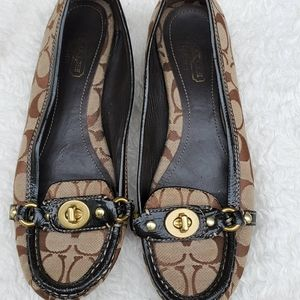 Coach jacquard loafers 9.5